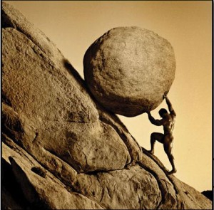 Sisyphus 300x295 the myth of struggle   how to get out of your own way