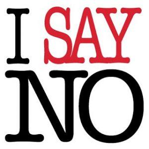 i say no