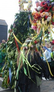 Jack of the Green Procession - Flamboyant costumes
