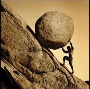 Sisyphus-struggle