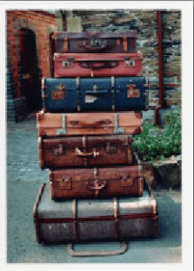 Pile of suitcases