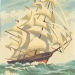 Saling boat - Painting