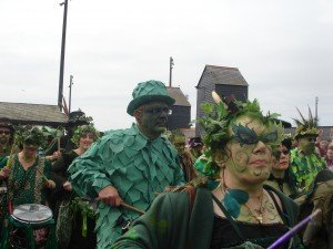 Jack of the Green Procession - Crowd