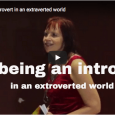 Video – on being an introvert in an extraverted world