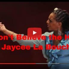 "Video: Performance poem ""Don't Believe the Hype"" – having confident body image"